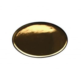 GLAZED GOLD CONTRAST SMALL HANDMADE DAUVILLE CHARCOAL PLATTER
