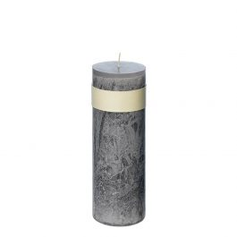 GREY PURE OIL TIMBER CANDLE 20CM