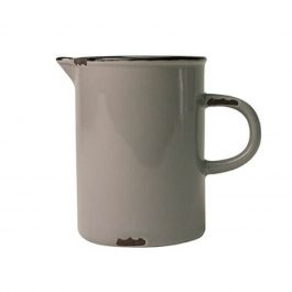 PALE GREY VINTAGE INSPIRED TINWARE JUG