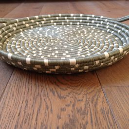 LIGHT TAUPE HANDMADE SPECKLED TRAY