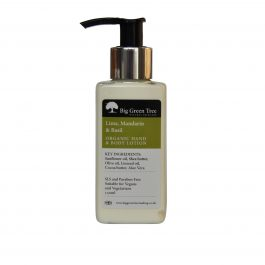 ORGANIC HAND AND BODY LOTION (LIME, BASIL AND MANDARIN)