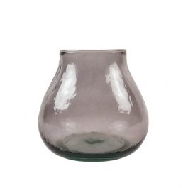 LIGHT MAUVE RECYCLED GLASS VALENCIA VASE