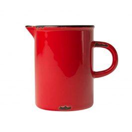 RED VINTAGE INSPIRED TINWARE CREAM MILK JUG