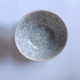 RAMEKIN DISH IN DUCK EGG PATTERNED (SIZE S)