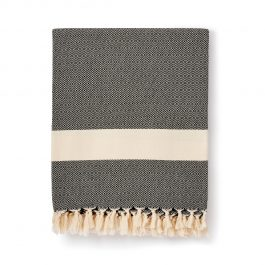 Black cotton Turkish blanket