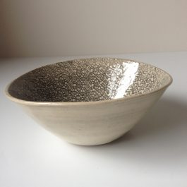 Wonki Ware Small Organic Serving Bowl in Charcoal Mixed Patterns
