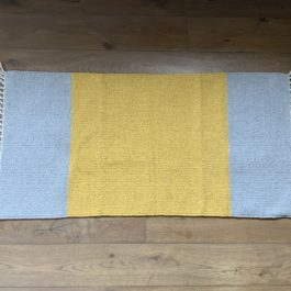 ECO COTTON RUNNER RUG IN PALE GREY AND YELLOW