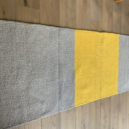 Yellow and Grey Cotton Stripe Eco Runner