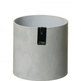 Grey recycled paper plant pot