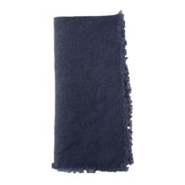 COBALT BLUE LINEN TABLE NAPKINS (SET OF 4)