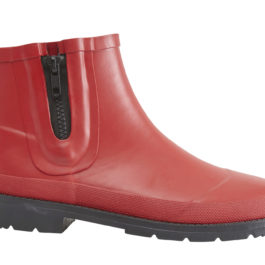 RED CITY RUBBER ANKLE BOOT