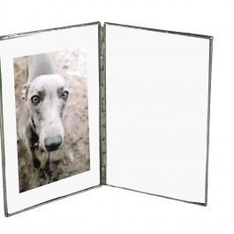METAL AND GLASS BOOK STYLE PHOTO FRAME