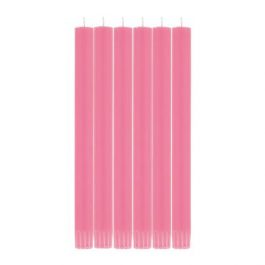 ECO DINNER CANDLES IN NEYRON ROSE (SET OF 6) FROM BRITISH COLOUR STANDARD