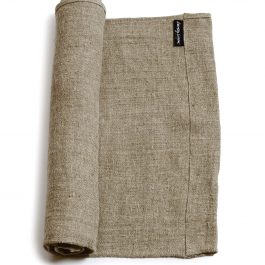 100% RAW EDGE RUSTIC LINEN TABLE RUNNER IN NATURAL BEIGE