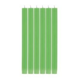 GRASS GREEN ECO DINNER CANDLES (SET OF 6)