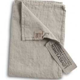 100% EUROPEAN LINEN GUEST HAND TOWEL IN NATURAL BEIGE