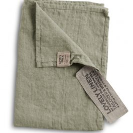 100% EUROPEAN LINEN GUEST HAND TOWEL IN AVOCADO