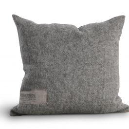100% WOOL AND LINEN PALE GREY CUSHION