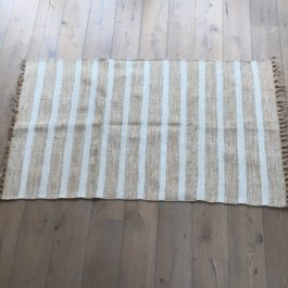 NATURAL COTTON & JUTE STRIPED ECO RUG