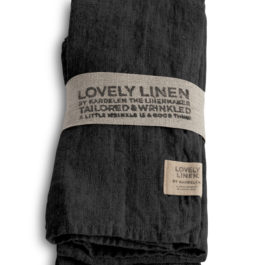 100% LINEN TABLE NAPKIN IN DARK GREY