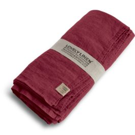 100% LINEN TABLE CLOTH IN CABERNET (SIZE L)