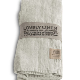 100% LINEN TABLE NAPKIN IN LIGHT GREY