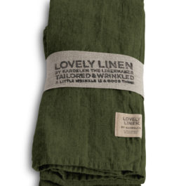 100% LINEN TABLE NAPKIN IN JEEP GREEN