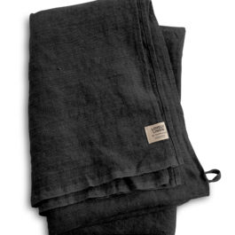 DARK GREY 100% LINEN HAMMAN TOWEL