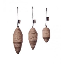 NATURAL ZERO WASTE CHRISTMAS CONE DECORATIONS (SET OF 3)