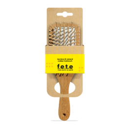 BAMBOO AND NATURAL RUBBER PADDLE HAIRBRUSH