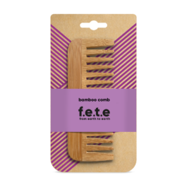 NATURAL WIDETOOTH BAMBOO COMB