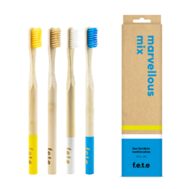BAMBOO TOOTHBRUSH MULTIPACK (PACK OF 4)