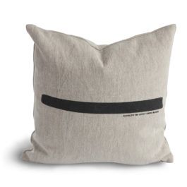 100% COTTON CANVAS CUSHION WITH SINGLE BOLD STRIPE FROM LOVELY LINEN