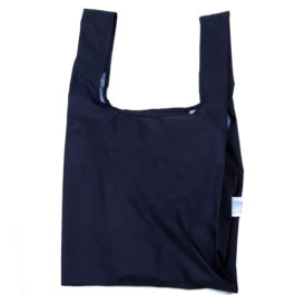 BLACK 100% RECYCLED REUSABLE SHOPPING BAG