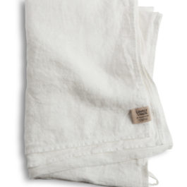 100% EUROPEAN LINEN GUEST TOWEL IN OFF WHITE FROM LOVELY LINEN