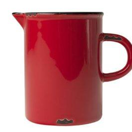 RED VINTAGE INSPIRED TINWARE JUG