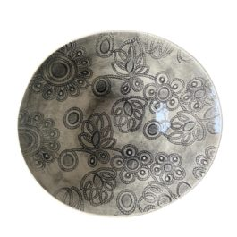 PASTA SERVING BOWL IN PATTERNED CHARCOAL