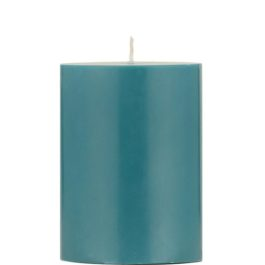 ECO PILLAR CANDLE IN PETROL BLUE (10 CM) FROM BRITISH COLOUR STANDARD