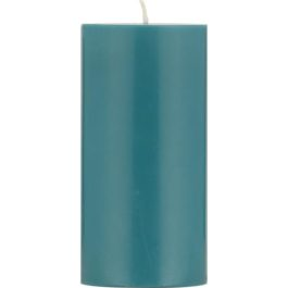 ECO PILLAR CANDLE (15CM) IN PETROL BLUE FROM BRITISH COLOUR STANDARD