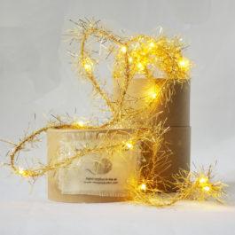 GOLD TINSEL FAIRY LIGHT GARLAND FROM MELANIE PORTER